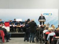 Horst Seehofer während seiner Rede